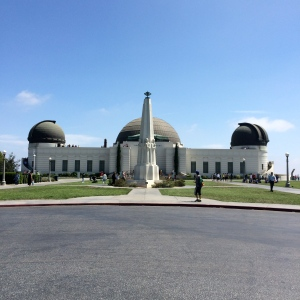 Walking up to the Griffith Observatory
