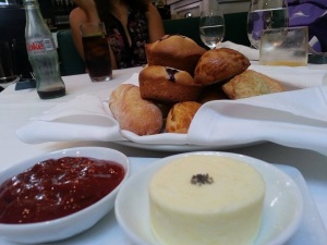 The pastries, strawberry jam, and sea salt butter (taken by May Chaker)