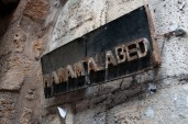 Hamam el Abed signage: the only hamam still operational and only for men