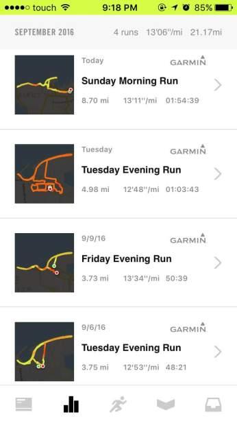 Monday Runs Not Tracked